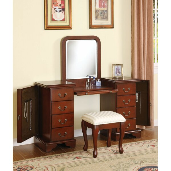 Epsom Vanity Set with Mirror by Canora Grey