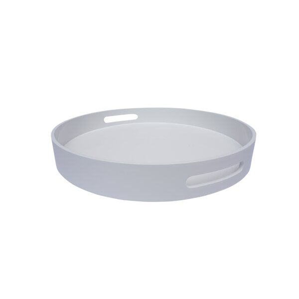 Meadow Lacquer Round Serving Tray by Orren Ellis