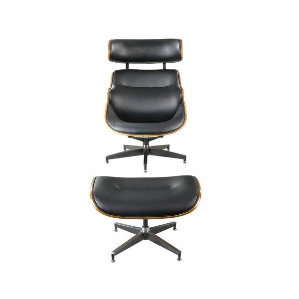 Cheryle 2 Piece Modern Swivel Lounge Chair and Ottoman by Corrigan Studio