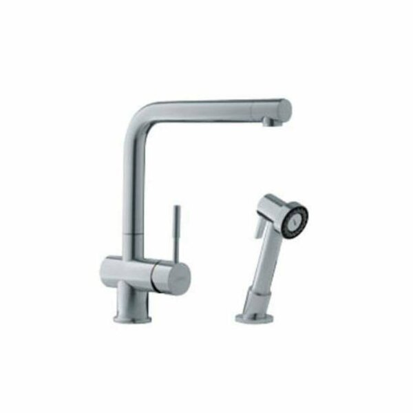 Single Handle Single Hole Arc Spout Kitchen Faucet with Side Spray by Franke