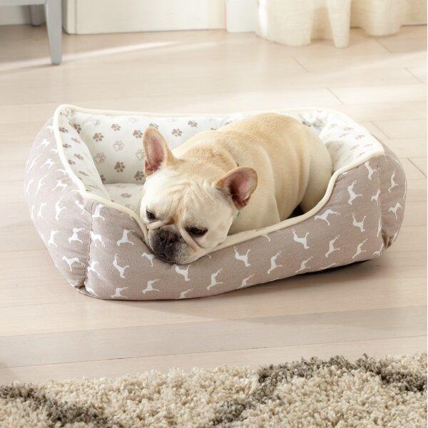 Juanita Printed Velvet Plush Cuddler Dog Bolster by Tucker Murphy Pet
