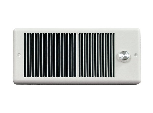 Low Profile Wall Insert Electric Fan Heater with Single Pole Thermostat with Wall Box by TPI