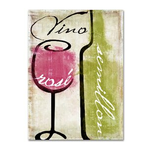 'Wine Tasting IV' by Color Bakery Graphic Art on Wrapped Canvas by Trademark Fine Art