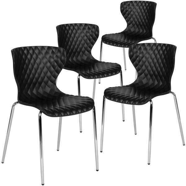 Lowell Contemporary Armless Stacking Chair by Flash Furniture