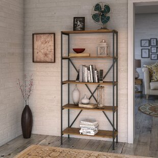 Ironworks 5 Shelf Etagere Bookcase by Kathy Ireland Home Bush Furniture Herry Up