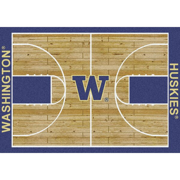 NCAA College Home Court Washington Novelty Rug by My Team by Milliken