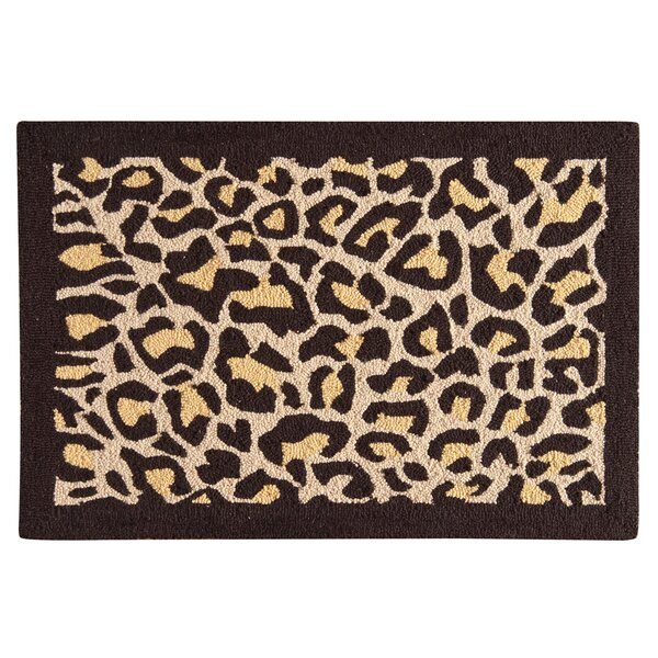 Rock Island Leopard Wool Brown Area Rug by Bloomsbury Market