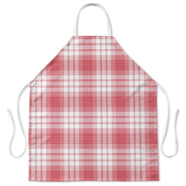 Candy Cane Cooking Plaid Apron by Red Barrel Studio