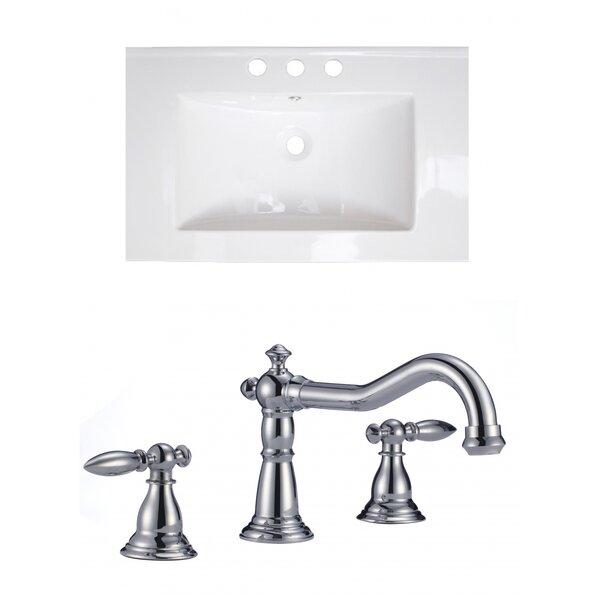 Latshaw Ceramic 24 Single Bathroom Vanity Top