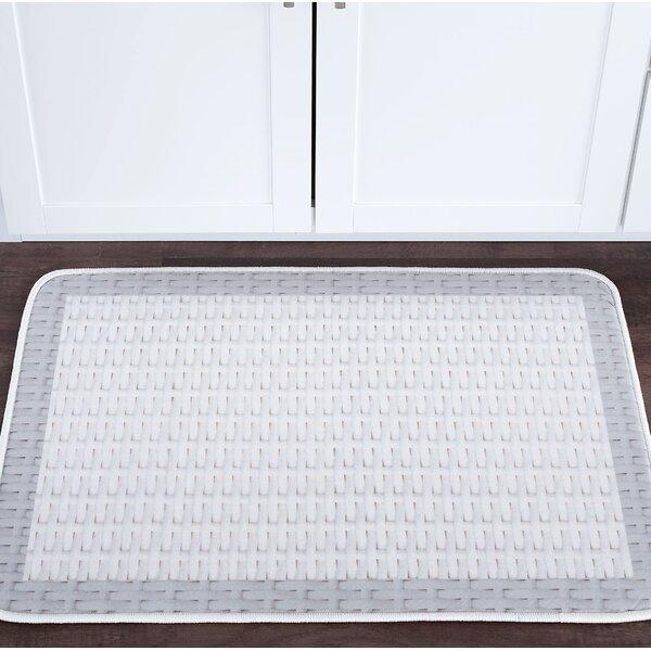 Armino Basketweave Foam Core Bath Rug by August Grove