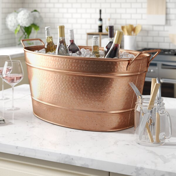 Netherfield Copper Beverage Tub by Beachcrest Home