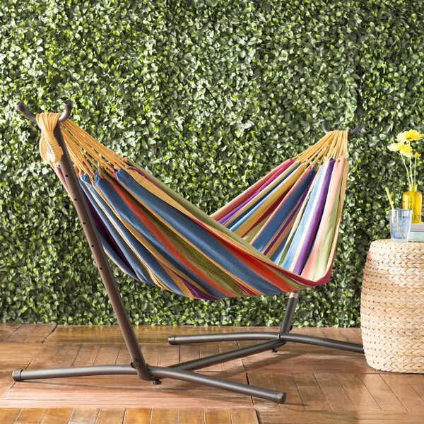 Dorinda Double Classic Hammock With Stand By Beachcrest Home by Beachcrest Home Bargain