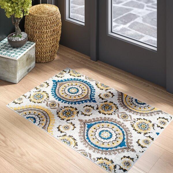 Houchin Wool Beige Indoor/Outdoor Area Rug by Bloomsbury Market