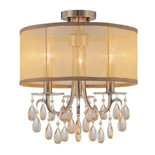 Aayush 3-Light Antique Brass Semi Flush Mount By Willa Arlo Interiors Ceiling Lights
