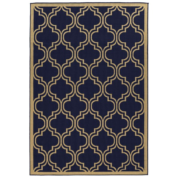 Beatrice Blue Indoor/Outdoor Area Rug by Threadbind