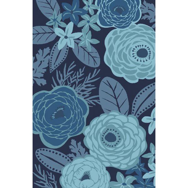 Aura Blue Indoor/Outdoor Area Rug by KD Spain