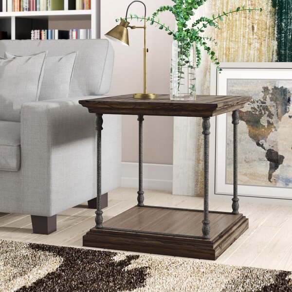Mabie Floor Shelf End Table with Storage by Feminine French Country