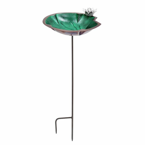 Lilypad Birdbath with Stake by ACHLA
