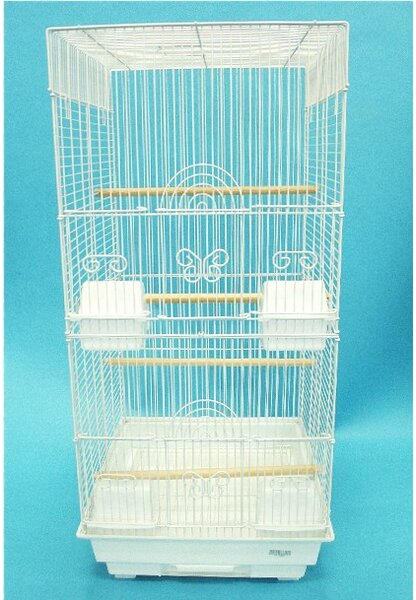 Tall Square 4 Perch  Bird Cage by YML