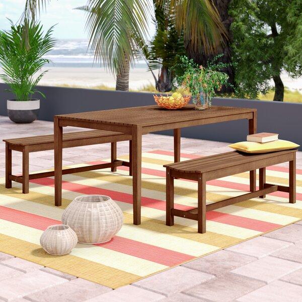 Mallie Bench 3 Piece Dining Set by Beachcrest Home