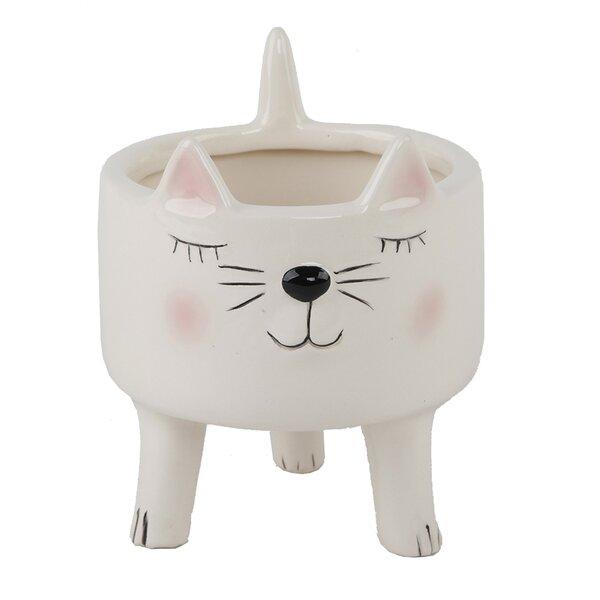 Osblek Cute Cat Pot Planter by Ebern Designs