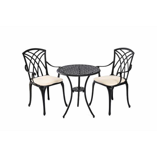 Lacluta 3 Piece Bistro Set With Cushions (Set Of 3) By Canora Grey