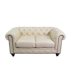 Newbury Leather Chesterfield Sofa