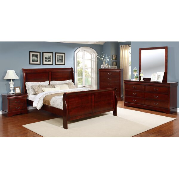 Burleson 5 Piece Queen Sleigh Bedroom Set by Three Posts