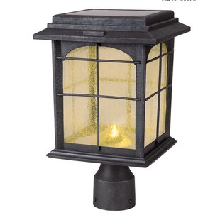 Reviews Heflin Solar 1-Light LED Lantern Head By Longshore Tides