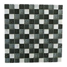 Quartz 1 x 1 Glass and Stone Mosaic Tile in Fusion by Abolos