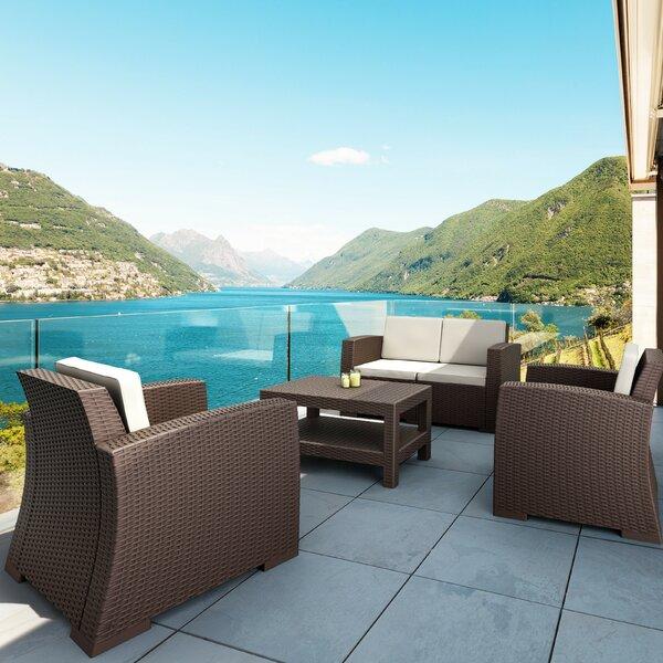 Vedder 4 Piece Sofa Seating Group with Cushions by Brayden Studio Brayden Studio