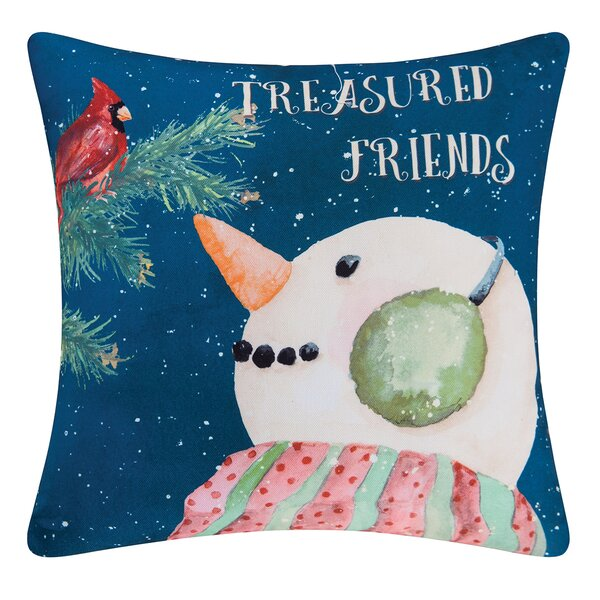 Fergerson Treasured Friend Indoor/Outdoor Throw Pillow by The Holiday Aisle