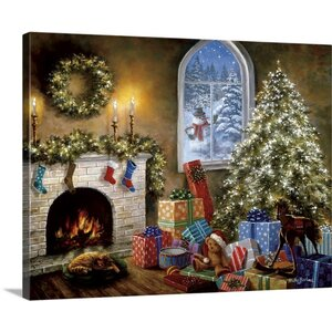 Christmas Art Not A Creature Was Stirring by Nicky Boehme Painting Print on Wrapped Canvas by Great Big Canvas
