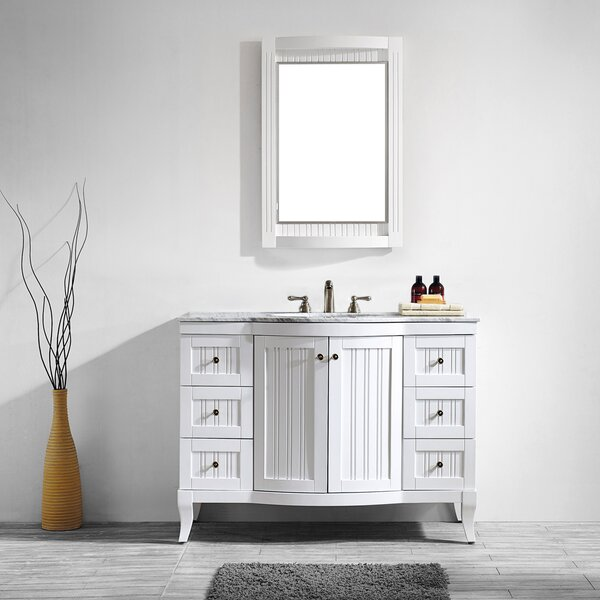 Saint 48 Single Vanity Set with Mirror by Beachcrest Home