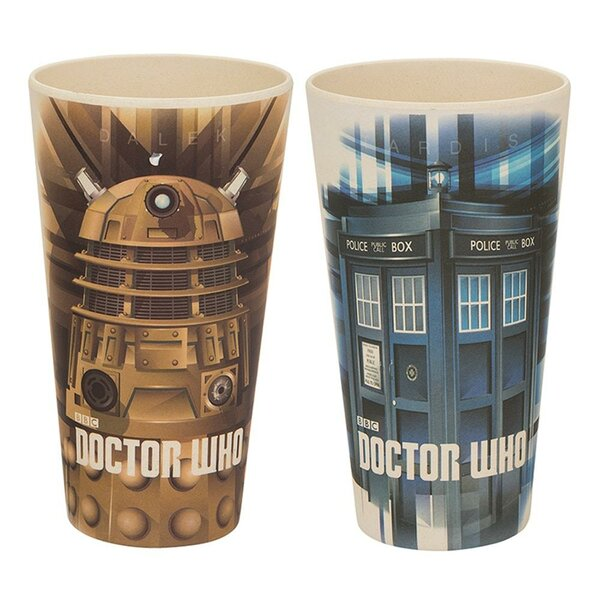 Doctor Who 2 Piece 24 oz. Bamboo Tumbler Set by Vandor LLC