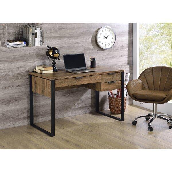 Coppedge Writing Desk In Weathered Oak & Black Finish