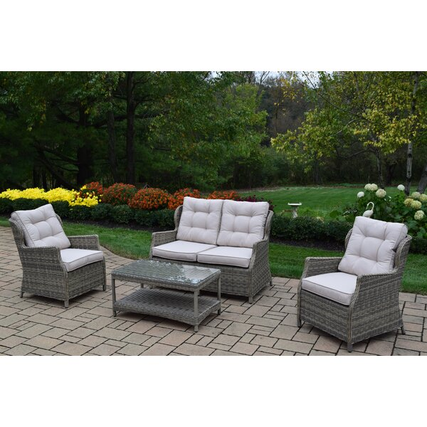 Borneo 4 Piece Sofa Set with Cushions by Oakland Living