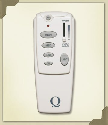Hand Held Fan Remote Control in White by Quorum