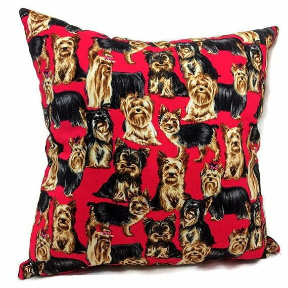 Yorkshire Terrier Throw Pillow by East Urban Home