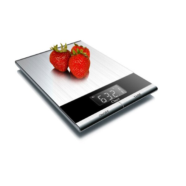 Ultra Thin Professional Digital Kitchen Food and Nutrition Scale by Ozeri