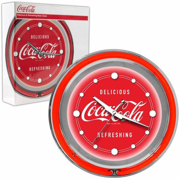 Coca Cola Deluxe Neon Clock by Trademark Global