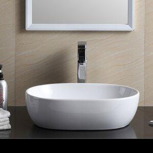 modern oval bathroom vessel sink - Bathroom Vessel Sinks
