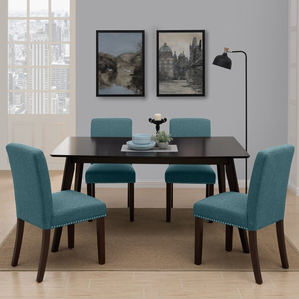 Mcewen Rectangle Armless 5 Piece Dining Set by Wrought Studio