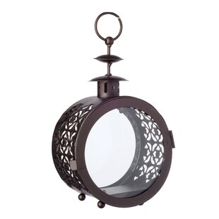 Purchase Round Metal Lantern By Bloomsbury Market