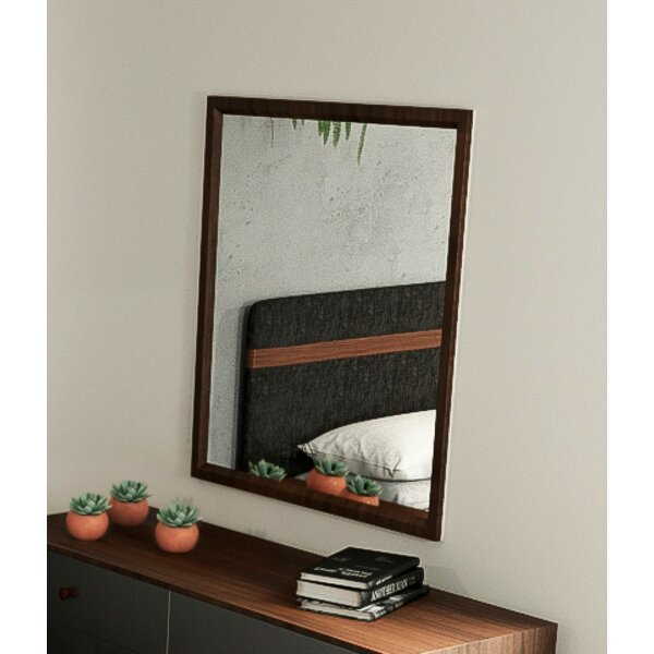 Lani Walnut 6 Drawer Dresser with Mirror by Langley Street