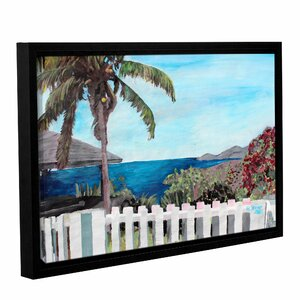 English Harcour Antigua Ocean View by Marcus/Martina Bleichner Framed Painting Print on Wrapped Canvas by ArtWall