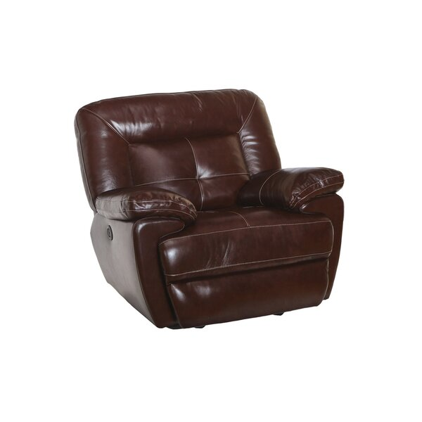 Duffett Leather Manual Glider Recliner [Red Barrel Studio]