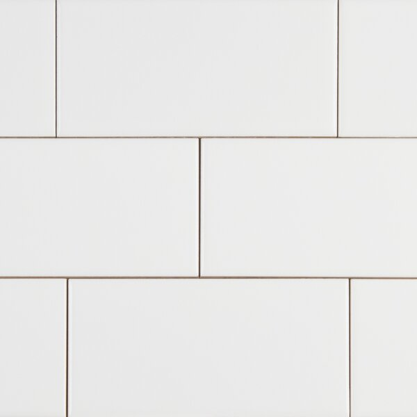 Random Sized 3 x 6 Ceramic Subway Tile in White by MSI