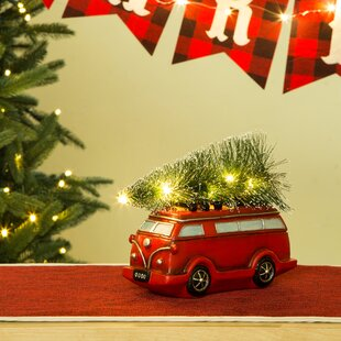 lighted truck table decor - Christmas Truck Decor
