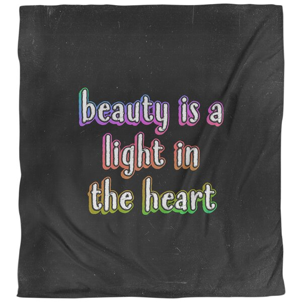 Beauty Inspirational Quote Single Duvet Cover